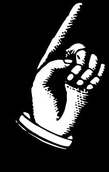指差し, 手を指しています。, ヴィンテージ広告, 広告, ポイント, 手
