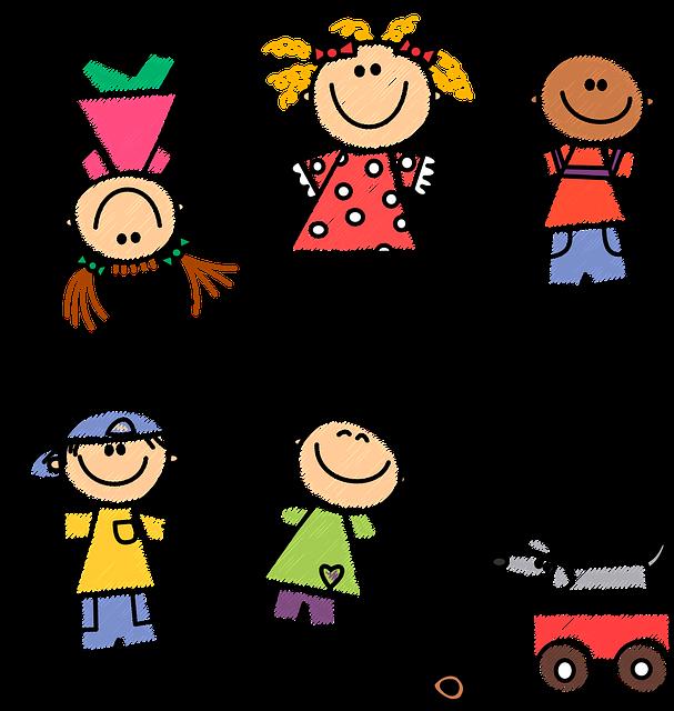 Картинки веселые дети нарисованные