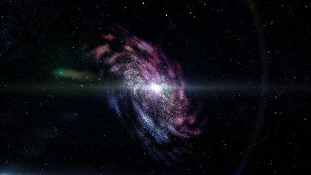 天文学, スペース, 暗闇の中, 科学, 自然, 銀河, 誰, 背景, コスモス