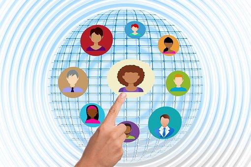 手指, 触摸, 手, 结构, 互联网, 网络, 社会, 社会网络, 标志
