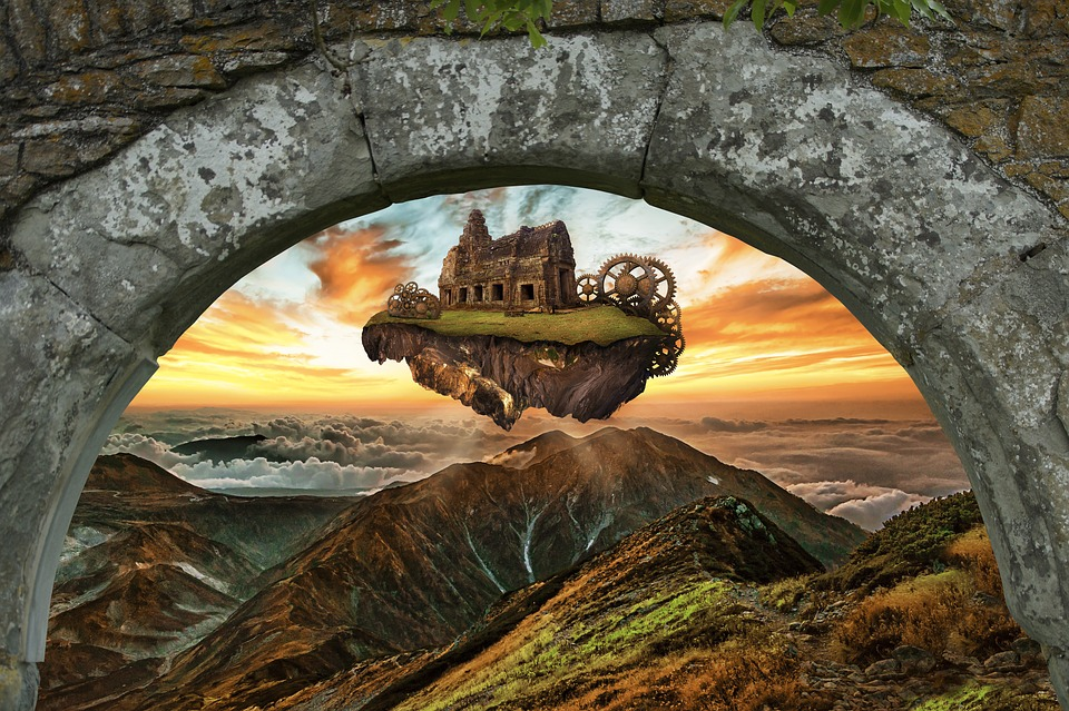 Castillo Isla Flotante Vuela - Foto gratis en Pixabay