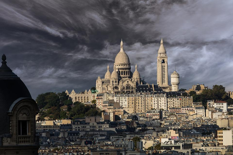 Paris, Sacré-Coeur, Montmartre, Ciel