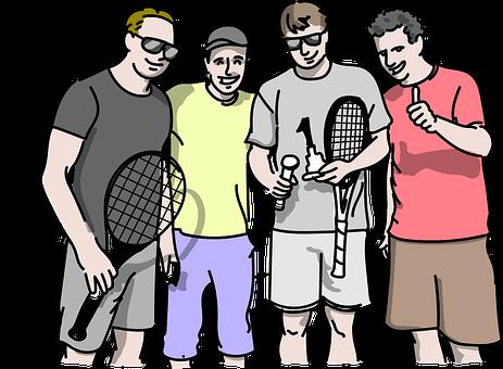 人々, テニス, ゲーム, 友情