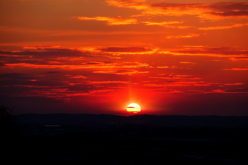 sunset sun afterglow 183 free photo on pixabay