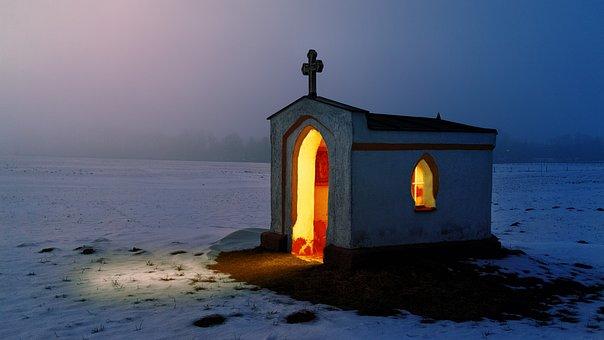 光, チャペル, 教会, アーキテクチャ, 宗教, 記念礼拝堂, 気分
