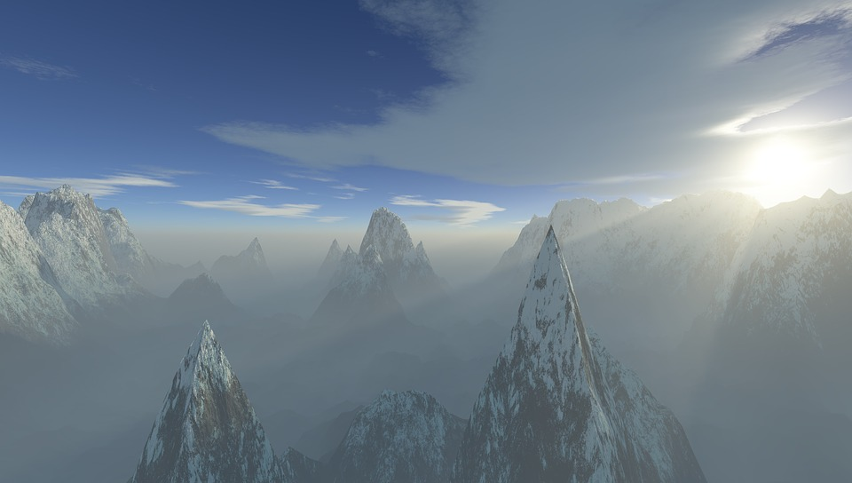 Snow, Mountain, Winter, Panoramic, Ice, Cold, Sky, High