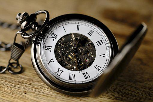 Clock, Pocket Watch, Movement