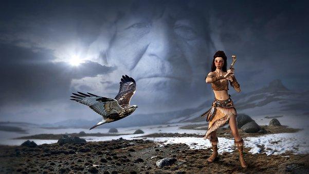 Fantasía, Mística, Indios, Falcon