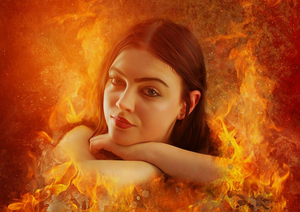 Fantasy girl woman free photo on pixabay fantasy girl woman beautiful portrait burn flames voltagebd Images