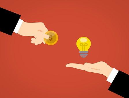 事業アイデア, 創造的です, 広告, お金, 獲得します, 通信, 協力