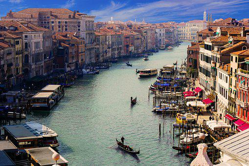 Venice, Canale Grande, Gondolier, City
