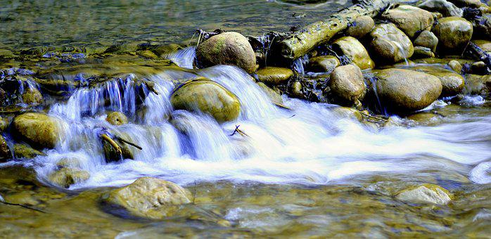 Body Of Water, River, Nature, Rock, Flow