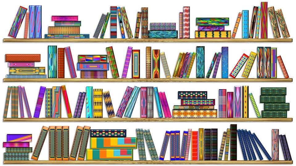 Colorful Books Bookshelf · Free image on Pixabay
