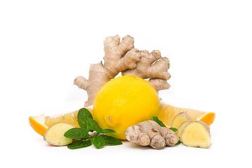 Lemon, Mint, Ginger, Food, Healthy