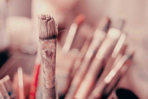 ブラシ, 芸術, 絵画, ツアー, 画家, キリストの受難