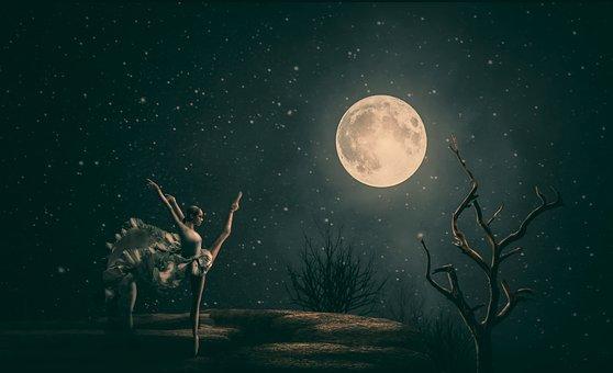 Mond, Astronomie, Natur, Dunkel
