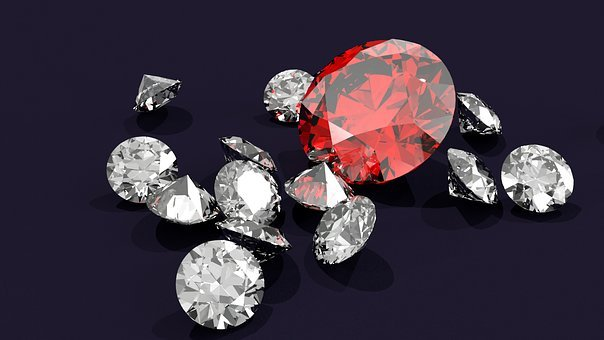 Diamond, Diamonds, Gem, Gemstone, Ruby
