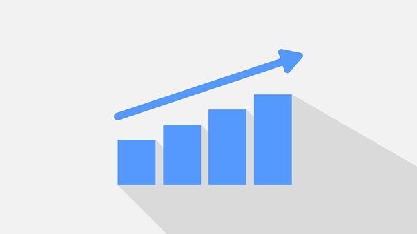 グラフ, 統計, データ, ヒストグラム, ビジネス, 図は、ヒストグラム