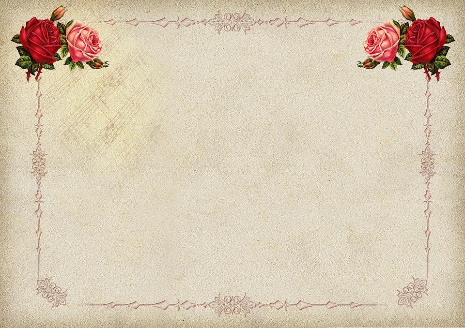 rosa moldura imagem de fundo flor ornamentos