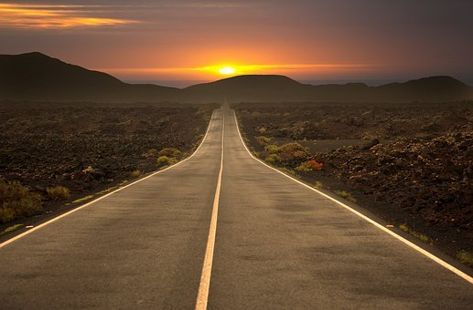 Road Highway Travel Asphalt Sky