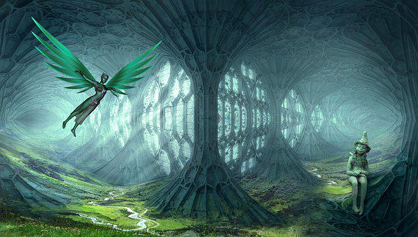 Fantasy Elves Dream World Landscape