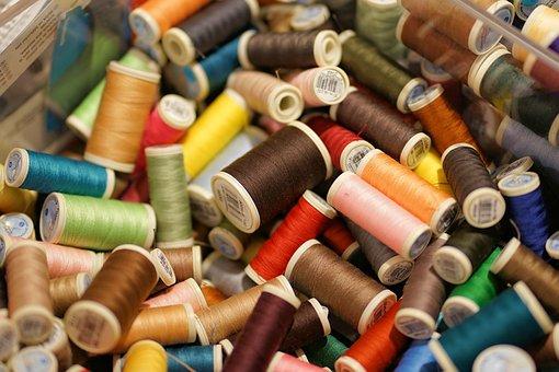 スレッド, 糸, 色, 縫う, バリエーション, コイル, 手作り, フォーム