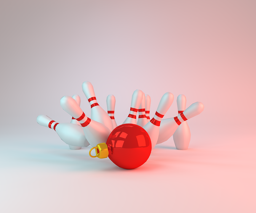 christmas bowling pins free image on pixabay