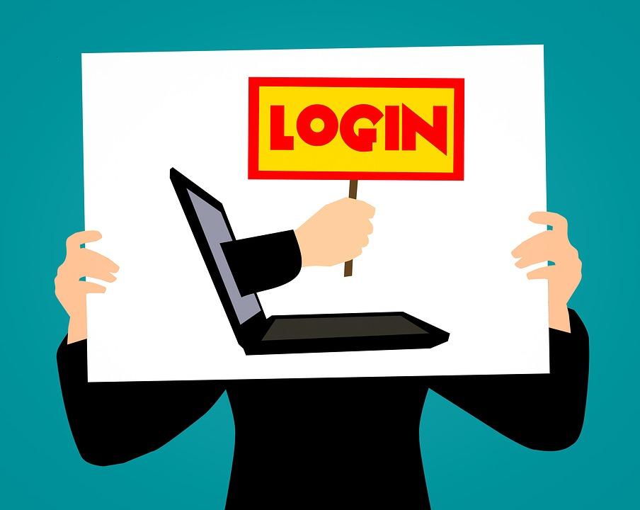 Login, Computer, Laptop, Melden Sie Sich, Anmelden