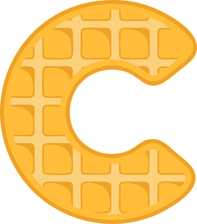 83569a3f756d4 C Alphabet Waffle - Free vector graphic on Pixabay