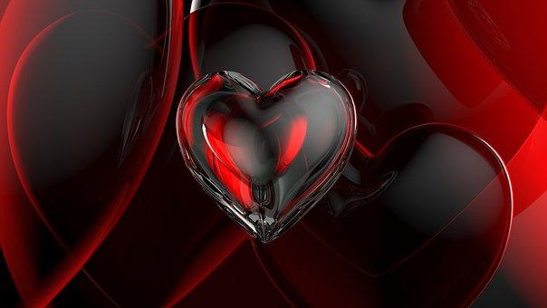 Romance Love Romantic Heart Glass