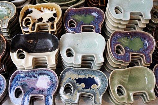 陶器, アート, セラミック, 手作り, 背景, メモリ, おもちゃ, 装飾品