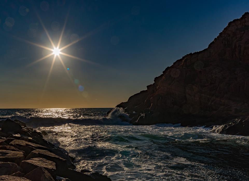 Les Eaux, Nature, Sunset, Mer, Côte, Corse, Sardaigne