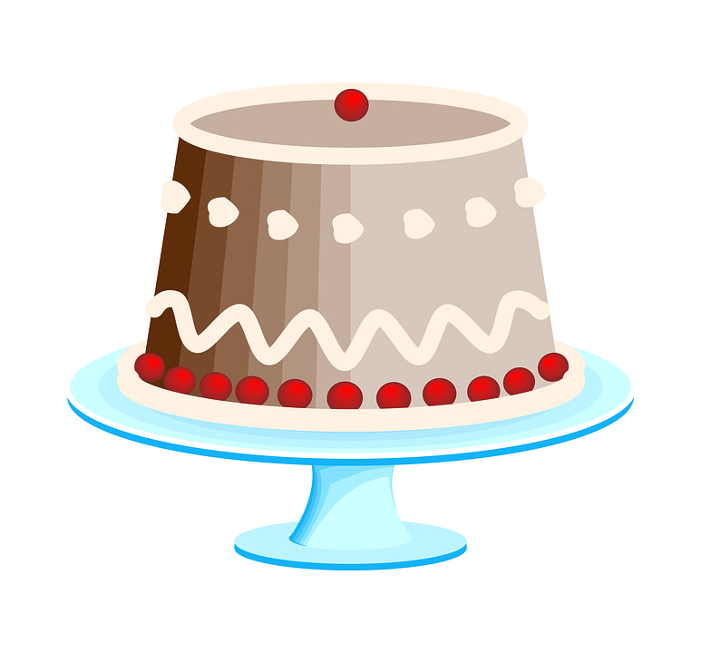 Lid, Retro, Cake, Sketch, Traditional, Cute, Christmas