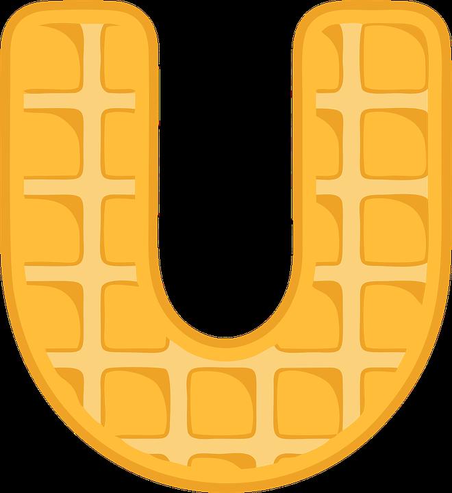 U & Us Home Design Studio Part - 34: U Alphabet Waffle Letter Typography Text Font
