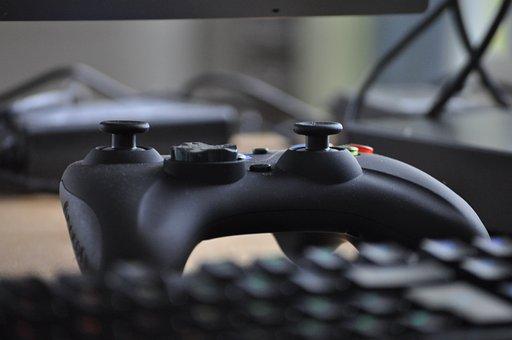 技術, コント ローラー, 再生, ビデオゲーム, ゲームパッド, コンソール