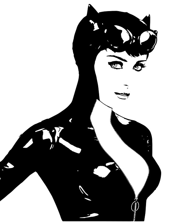 Chat Catwoman Super Héros Dessin Image Gratuite Sur Pixabay