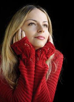 Woman, Fashion, Winter, Portrait, Young
