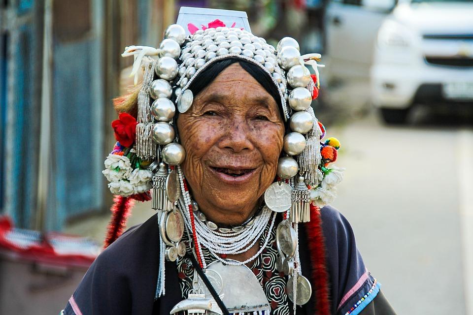 Mensen, Portret, Volwassene, Oudere Vrouw, Exotica