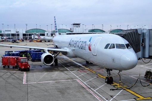 交通機関, 飛行機, 空港, 航空機, ジェット, アメリカン航空, Aa