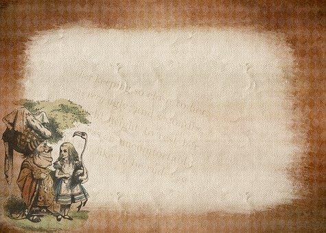爱丽丝梦游仙境 》, 框架, 童话故事, 背景, 大纲, 图像, 贺卡, 树