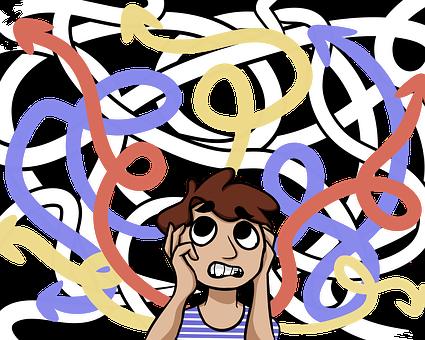 混沌模式_无序, 混沌, 计算思维, 脑, 分解, 抽象, 模式, 算法, 拼图, 理解