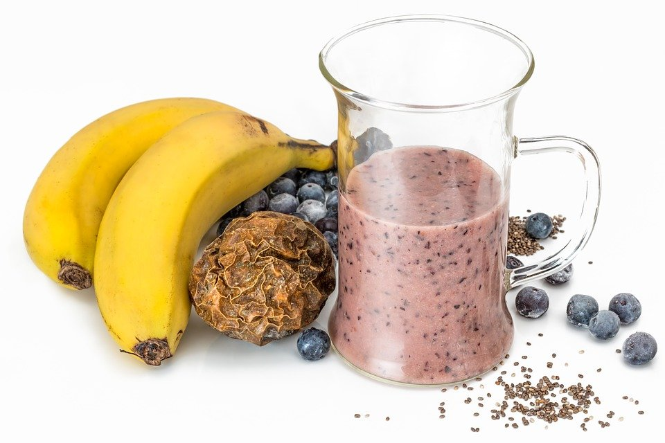 Smoothie, Blueberry, Banana, Granadilla, Chia Seeds