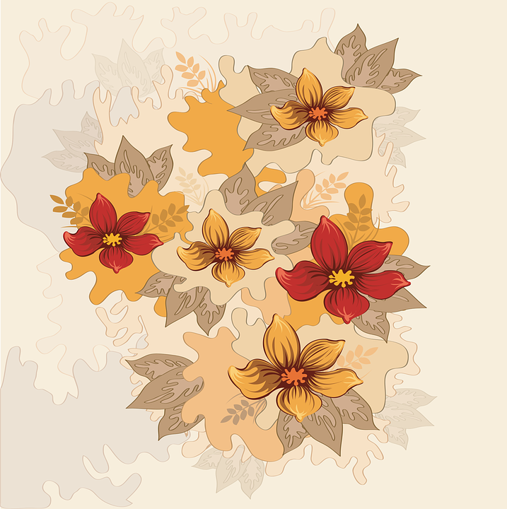 Flower Vector Background Free Vector Graphic On Pixabay