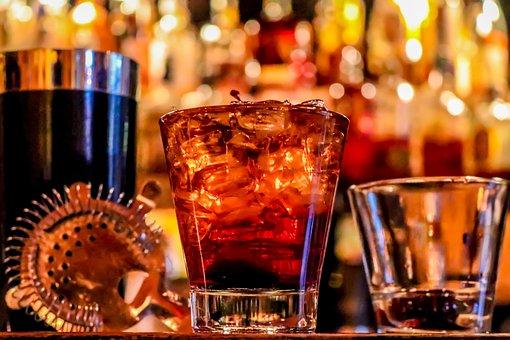 アルコール, 飲む, ガラス, バー, 祝賀会, お祝い, ウィスキー, ワイン