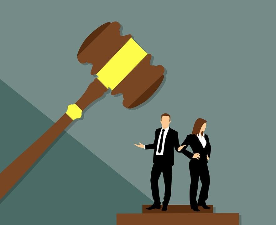 Divorce, Separation, Judge, Wife, Husband, Concept