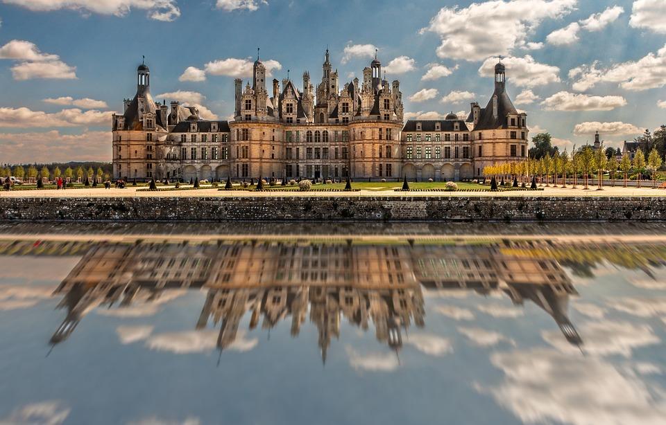 A Chambord, Elmélkedés, Castle, Építészet, Reneszánsz