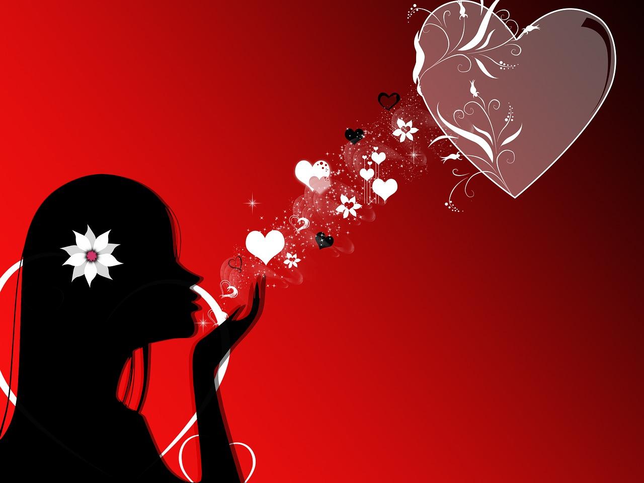 Открытки поцелуи и сердце, текст