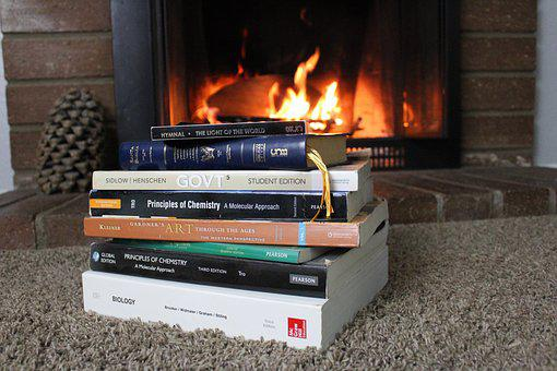 Värme, Inomhus, Flame, Studie, Läxor