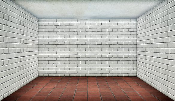 Space, Empty, Brick, White, Interior