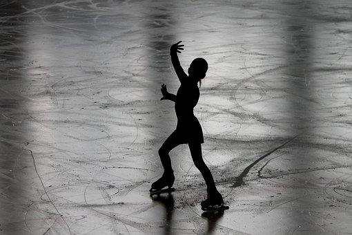 フィギュア スケート, ランナー, フィギュアスケート選手, シルエット